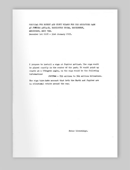 A proposal by Peter Liversidge