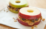 APPLE SANDWICHES ARE CUTE AS BUTTONS