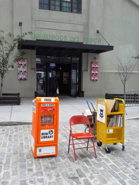 Photo of a comparable mini-lending library in Brooklyn.