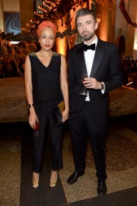 Zadie Smith, Nick Laird== 2014 Museum Gala== American Museum of Natural History, NYC== November 20, 2014== ©Patrick McMullan== Photo - Clint Spaulding/PatrickMcMullan.com== ==